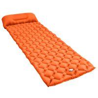 vidaXL Täytettävä ilmapatja tyynyllä 58x190 cm oranssi