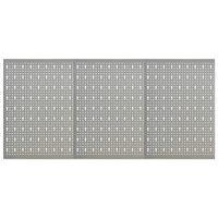 vidaXL Seinään kiinnitettävät työkalutaulut 3 kpl 40x58 cm teräs