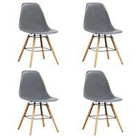 vidaXL Ruokapöydän tuolit 4 kpl harmaa muovi