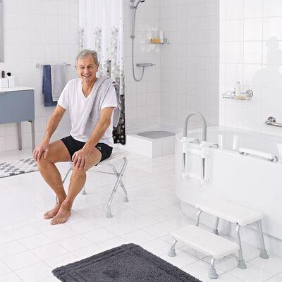 RIDDER Kokoontaittuva kylpyhuoneen jakkara 110 kg valkoinen A0050301