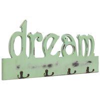 vidaXL Seinälle kiinnitettävä naulakko DREAM 50x23 cm