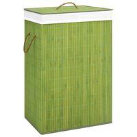 vidaXL Bambu pyykkikori vihreä 72 l