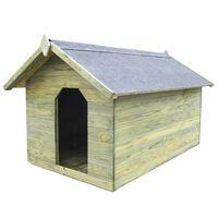 vidaXL Koirankoppi avattavalla katolla kyllästetty mänty