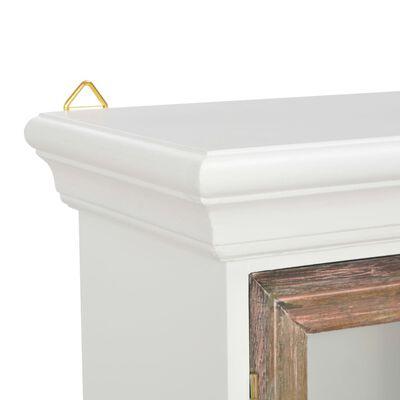 vidaXL Seinäkaappi valkoinen 49x22x59 cm Täyspuu,