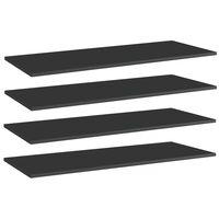vidaXL Kirjahyllytasot 4 kpl korkeakiilto musta 100x40x1,5cm lastulevy