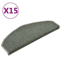 vidaXL Porrasmatot 15 kpl tummanvihreä 65x24x4 cm