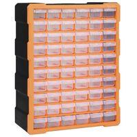 vidaXL Monilaatikko järjestelijä 60 laatikolla 38x16x47,5 cm