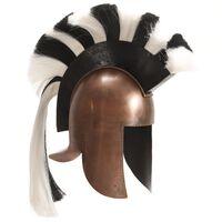 vidaXL Kreikkaisen sotilaan kypärä antiikki kopio kupari teräs