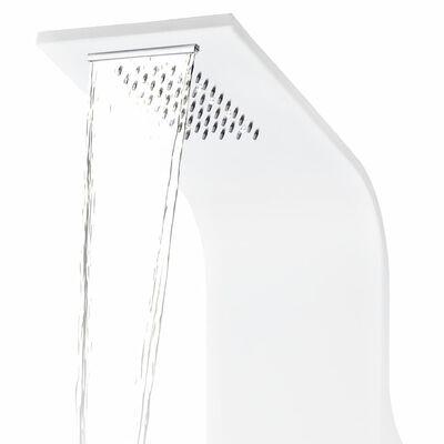 vidaXL Suihkupaneeli alumiini 20x44x130 cm valkoinen