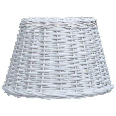 vidaXL Lampunvarjostin paju 38x23 cm valkoinen