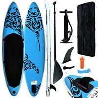 vidaXL Täytettävä SUP-lautasarja 305x76x15 cm sininen