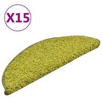 vidaXL Porrasmatot 15 kpl vihreä 56x17x3 cm