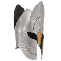 vidaXL Keskiaikaisen fantasiaritarin kypärä kopio hopea teräs