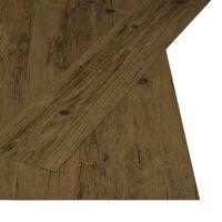 vidaXL Itsekiinnittyvä lattialankku 4,46 m² 3mm PVC luonnollinen ruskea