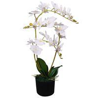 vidaXL Tekokukka ruukulla orkidea 65 cm valkoinen