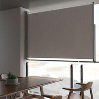 vidaXL Sisäänvedettävä terassin sivumarkiisi 160 x 300 cm harmaa