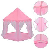 vidaXL Prinsessan leikkiteltta vaaleanpunainen