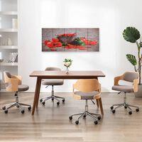 vidaXL Kanvaasitaulusarja paprika monivärinen 150 x 60 cm