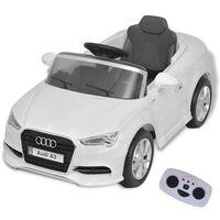 vidaXL Sähköleluauto Kauko-ohjauksella Audi A3 Valkoinen