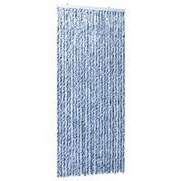 vidaXL Hyönteisverho sininen, valkoinen ja hopea 100x220 cm Chenille