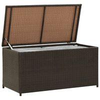 vidaXL Puutarhan säilytyslaatikko polyrottinki 100x50x50 cm ruskea