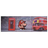 vidaXL Kanvaasitaulusarja Lontoo monivärinen 120 x 40 cm