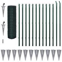 vidaXL Euro-aita teräs 25x1,5 m vihreä