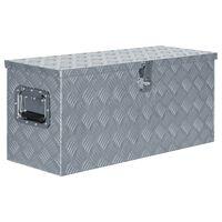 vidaXL Alumiinilaatikko 80x30x35 cm hopea