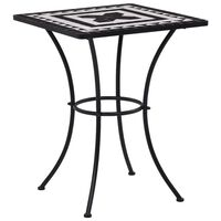 vidaXL Mosaiikkibistropöytä musta ja valkoinen 60 cm keramiikka