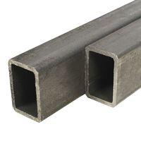 vidaXL Teräsprofiilit 4 kpl suorakaide 1 m 50x30x2mm