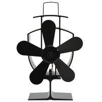 vidaXL Lämmöllä toimiva hellatuuletin 5 lapaa musta