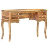 vidaXL Työpöytä 115x45x75 cm täysi mangopuu