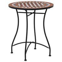 vidaXL Mosaiikkibistropöytä ruskea 60 cm keramiikka
