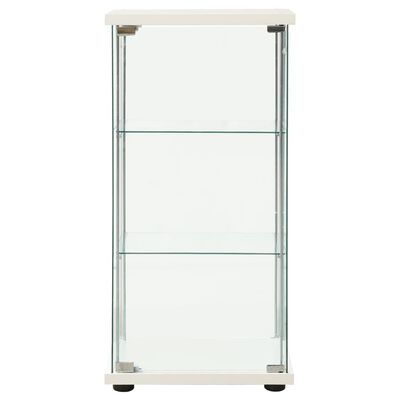 vidaXL Varastokaappi karkaistu lasi valkoinen