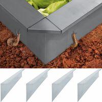 vidaXL Etana-aitalevyt 4 kpl galvanoitu teräs 150x7x25 cm 0,7 mm