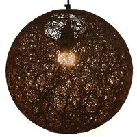 vidaXL Roikkuva lamppu ruskea pallo 35 cm E27