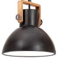 vidaXL Teollistyylinen riippuvalaisin 25 W musta pyöreä 40 cm E27