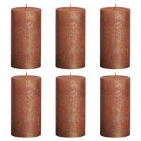 Bolsius Pilarikynttilät 6 kpl rustiikkinen 130x68 mm kupari