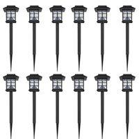 Aurinkovoimalla Toimiva LED Ulkovalosarja 12 kpl 8,6 x 8,6 x 38 cm