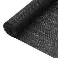 vidaXL Näkösuoja musta 3,6x50 m HDPE 150 g/m²
