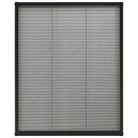 vidaXL Laskostettu hyönteisverkko ikkunaan 80x100cm alumiini antras.