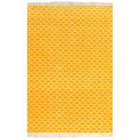vidaXL Kilim matto puuvilla 120x180 cm kuviolla keltainen