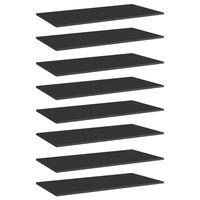 vidaXL Kirjahyllytasot 8 kpl korkeakiilto musta 80x30x1,5 cm lastulevy