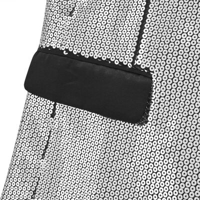 vidaXL Miesten smokki-mallinen paljettitakki koko 56 Hopea