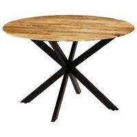 vidaXL Ruokapöytä karkea mangopuu ja teräs 120x77 cm