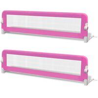 vidaXL Turvalaita sänkyyn 2 kpl vaaleanpunainen 150x42 cm
