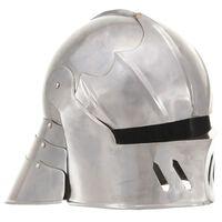 vidaXL Keskiaikaisen ritarin kypärä antiikki kopio hopea teräs