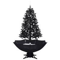 vidaXL Lunta satava joulukuusi sateenvarjopohjalla musta 170 cm PVC