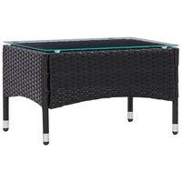 vidaXL Sohvapöytä musta 60x40x36 cm polyrottinki