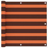 vidaXL Parvekkeen suoja oranssi ja ruskea 90x300 cm Oxford kangas